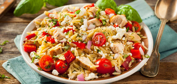 Orzo Salad with Spinach Tomatoes and Feta Recipe